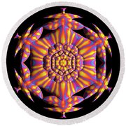 Jyoti Ahau 187 Round Beach Towel by Robert Thalmeier