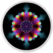 Jyoti Ahau 189 Round Beach Towel by Robert Thalmeier