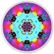 Jyoti Ahau 190 Round Beach Towel by Robert Thalmeier