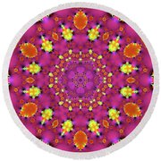Jyoti Ahau 191 Round Beach Towel by Robert Thalmeier
