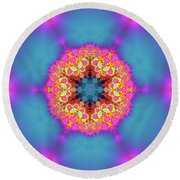 Jyoti Ahau 192 Round Beach Towel by Robert Thalmeier