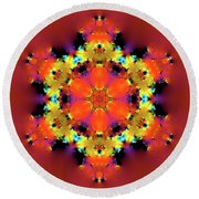 Jyoti Ahau 193 Round Beach Towel by Robert Thalmeier