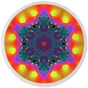 Jyoti Ahau 194 Round Beach Towel by Robert Thalmeier