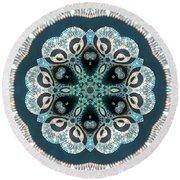 Round Beach Towel featuring the digital art Jyoti Ahau 50 by Robert Thalmeier