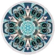 Round Beach Towel featuring the digital art Jyoti Ahau 59 by Robert Thalmeier