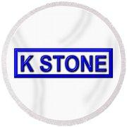 K Stone Round Beach Towel