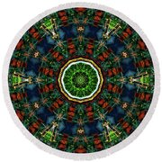 Round Beach Towel featuring the digital art Ka061516 by David Lane