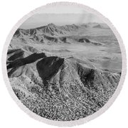 Kabul Mountainous Urban Sprawl Round Beach Towel
