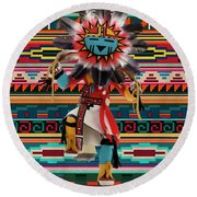 Kachina Doll Art Round Beach Towel