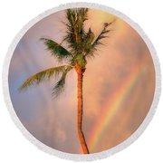 Kahekili Beach Park Rainbow Palm Round Beach Towel