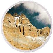 Kailas Kora Himalayas Mountain Tibet Yantra.lv Round Beach Towel