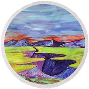 Round Beach Towel featuring the photograph Kailey's Canyon by Brenda Pressnall