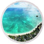 Kailua - Lanikai Overview Round Beach Towel