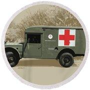 Kaiser Jeep M725 Army Round Beach Towel