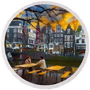 Kaizersgracht 451. Amsterdam Round Beach Towel