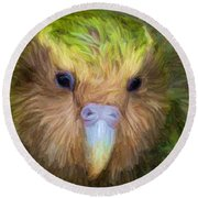 Kakapo Round Beach Towel
