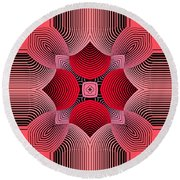 Round Beach Towel featuring the digital art Kal - 36c77 by Variance Collections