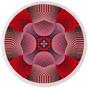 Round Beach Towel featuring the digital art Kal - 37bc77 by Variance Collections