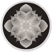 Round Beach Towel featuring the digital art Kal - 71c89 by Variance Collections