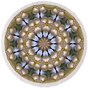 Round Beach Towel featuring the digital art Kaleidoscope 130 by Ron Bissett