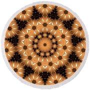 Round Beach Towel featuring the digital art Kaleidoscope 131 by Ron Bissett