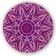 Kaleidoscope 147 Round Beach Towel