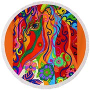 Kaleidoscope Eyes 2016 Round Beach Towel