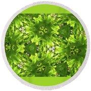 Kaleidoscope Flower Round Beach Towel by Julia Wilcox
