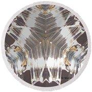 Kaleidoscope Mirror Effect M11 Round Beach Towel