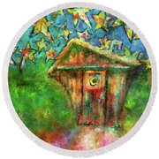Kaleidoscope Skies Round Beach Towel