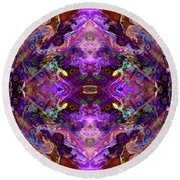 Kaleidoscope Round Beach Towel by Tlynn Brentnall