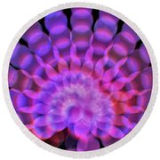 Kaleidoscope5 Round Beach Towel