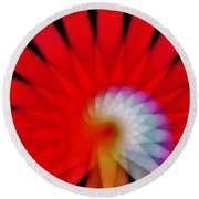 Kaleidoscope6 Round Beach Towel