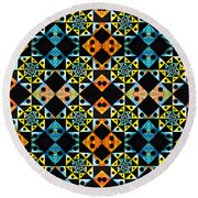 Kaleidoscopic  Round Beach Towel