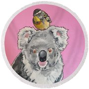 Kalman The Koala Round Beach Towel