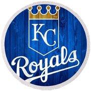 Kansas City Royals Barn Door Round Beach Towel