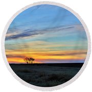 Kansas Sunrise1 Round Beach Towel