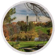 Kansas University Round Beach Towel by Joan Bertucci