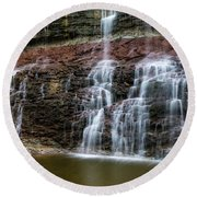 Kansas Waterfall 3 Round Beach Towel