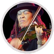 Karen Briggs 2017 Hub City Jazz Festival - In The Moment Round Beach Towel