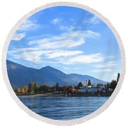 Kaslo Round Beach Towel by Cathie Douglas