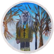 Katanka Protector Of Buffalo Round Beach Towel