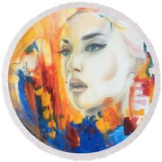 Kate Winslet Round Beach Towel