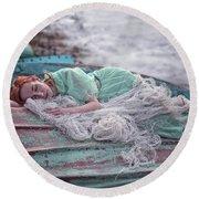 Katharsis Series 2/3 Forgiveness Round Beach Towel by Agnieszka Mlicka