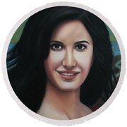 Katrina - The Beauty Of India Round Beach Towel