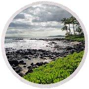 Kauai Afternoon Round Beach Towel
