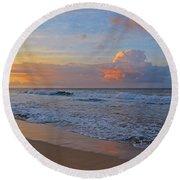 Kauai Morning Light Round Beach Towel
