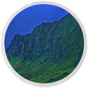 Kauai  Napali Coast State Wilderness Park Round Beach Towel