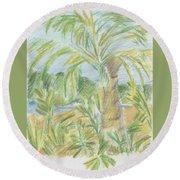Kauai Palms Round Beach Towel