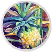 Kauai Pineapple 4 Round Beach Towel